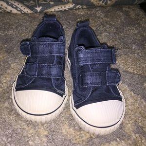 Denim blue shoes